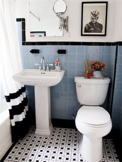 Black And White Tiled Bathroom Ideas 31 Retro Black White Bathroom Floor Tile Ideas And Pictures