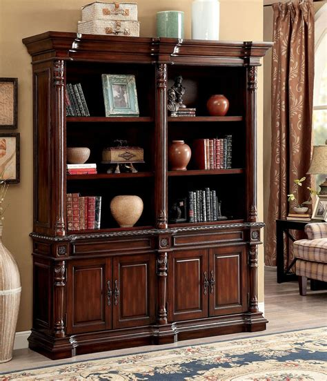 Big Book Shelf by Roosevelt Cherry Big Book Shelf From Furniture Of America