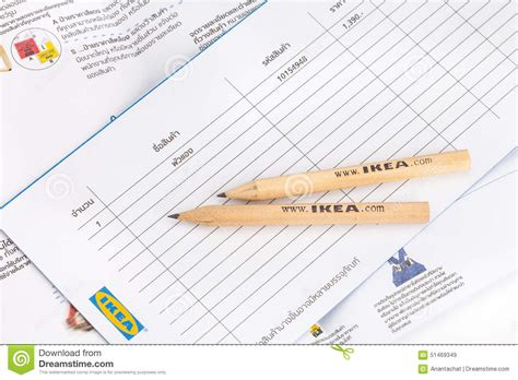 List Ikea ikea pencil and shopping list editorial stock image image 51469349