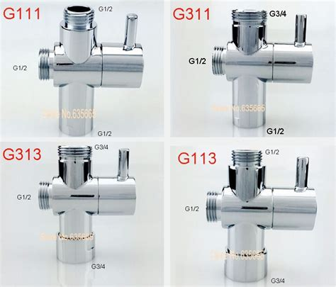 bidet dusche aliexpress buy brass chrome shower diverter valve