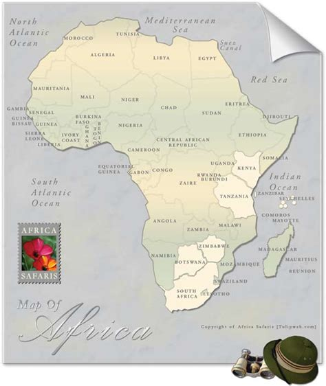 africa safaris map  africa east africa southern