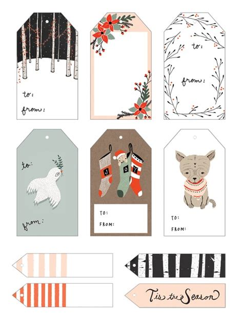free printable christmas cat gift tags 20 free printable christmas gift tags the pinning mama