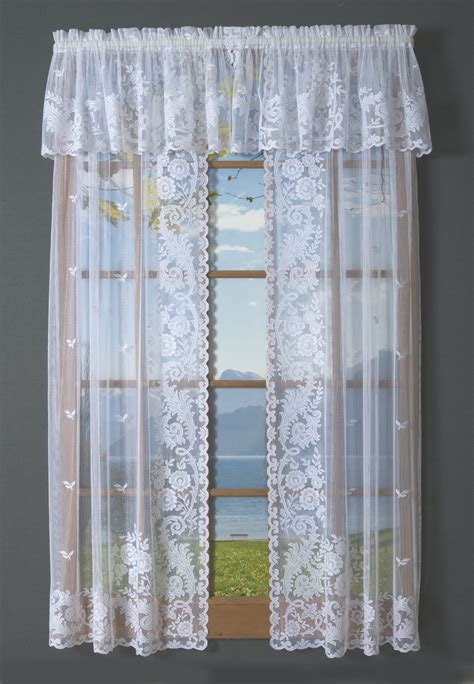 closeout drapes irish point lace tailored curtain pair clearance