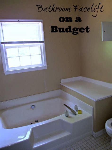 bathroom facelift a bathroom facelift that on a budget life with lisa