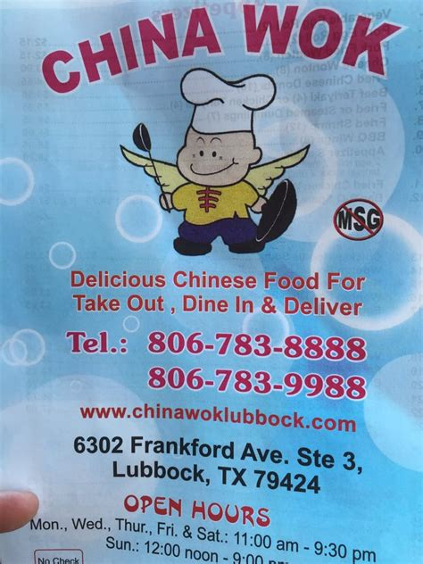 806 412 Lubbock Texas Phone Numbers | china wok 6302 frankford ave lubbock tx united