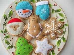 felt cookie holiday ornaments felt christmas cookie