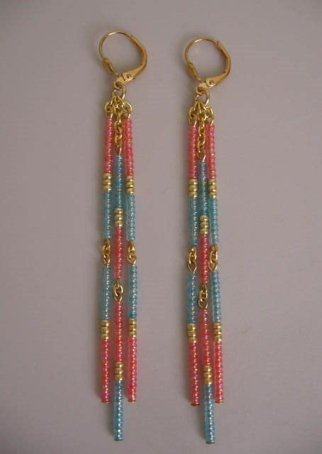 Bead Dangle Earrings 25 best ideas about seed on seed bead
