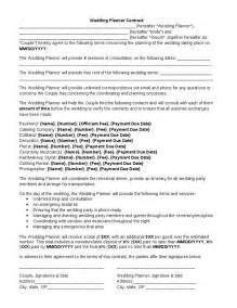 wedding planner contract template wedding planner contract wedding planner contract