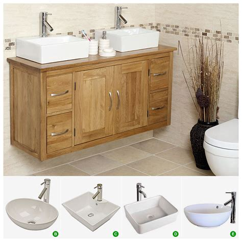 bathroom oak vanity units 50 off oak wall hung vanity unit with double sink
