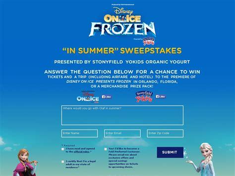 Www Ice Com Sweepstakes - disney on ice presents frozen summer sweepstakes sweepstakes fanatics