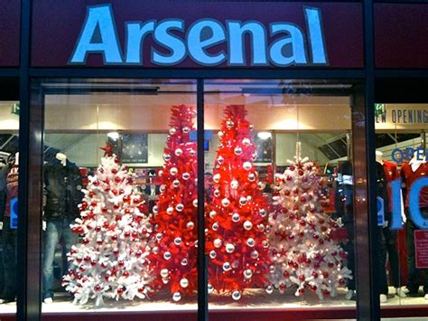 arsenal xmas decorations arsenal football club christmas shop launch on behance