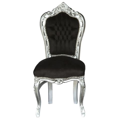 Louis Quatorze Stuhl by Stuhl Schwarz Silber Barock Edel Louis Xiv K 246 Nig Ebay