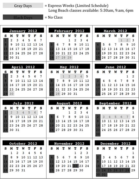 printable yearly calendar at a glance blank year at a glance calendar template 2016