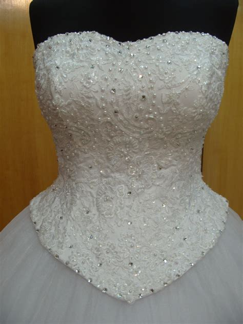 Bridal Corset Lace Wedding Dress Top Wedding Corset Overbust