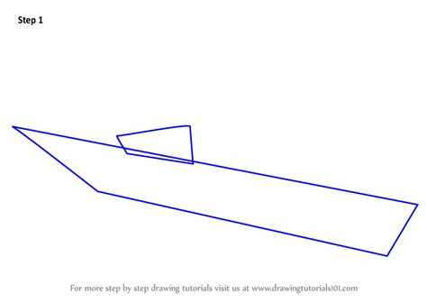 U Boat Drawing by Learn How To Draw A U Boat Boats And Ships Step By Step