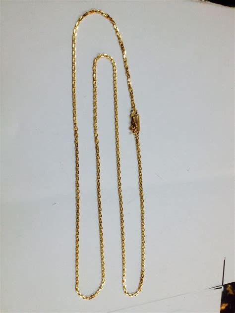 cadenas oro chile cadena oro 18 ktes limada hecha a mano cierre tubo psp gps