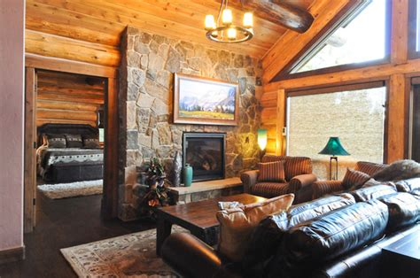 cabin living rooms rustic log cabin rustic living room denver by