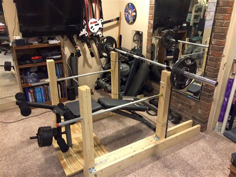 homemade decline bench fit corner diy bench and squatter catchers