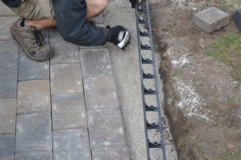 Install Plastic Landscape Edging Paver Patio Installation How To Properly Install Your