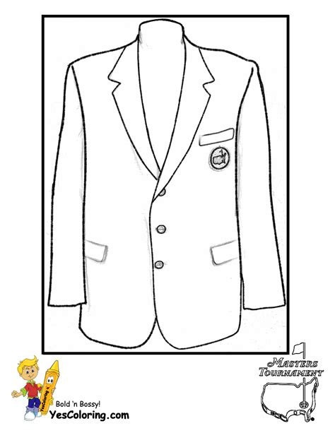 printable coloring page of a jacket two fisted golf coloring golf sports coloring free