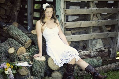 country style wedding dresses with cowboy boots cowboy wedding it s all about the boots