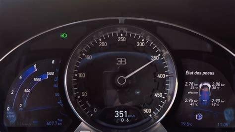 bugatti speedometer a bugatti chiron speedometer hit 218 mph autoblog