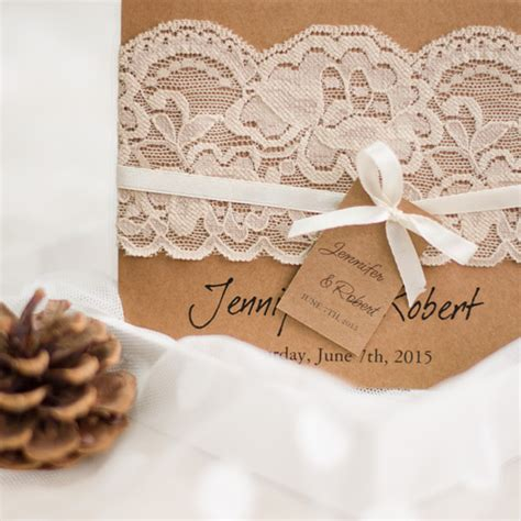 Wedding Invitations With Lace by Vintage Wedding Invitations Affordable At Wedding