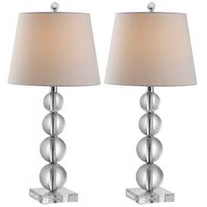 Millie stacked crystal ball lamp set of 2