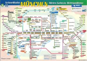 Munich Metro Map by Map Cards Hunting 0171 Germany Metro Munich