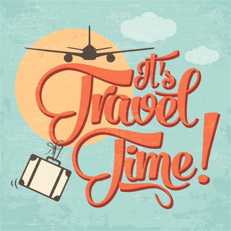 Travel Time its travel time background vector free