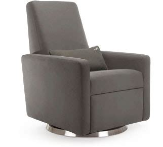grano glider recliner monte grano glider recliner in charcoal with a stainless
