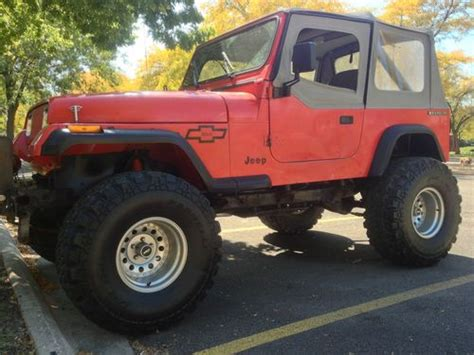 1989 Jeep Wrangler Automatic Transmission Sell Used 1989 Jeep Wrangler Yj W 383 Stroker Chevy Motor