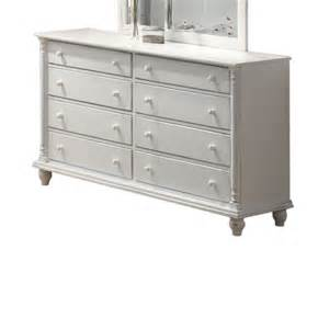 shop coaster furniture white 8 drawer dresser