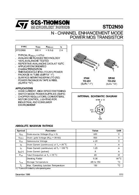 transistor a933 datasheet std2n50 213558 pdf datasheet ic on line