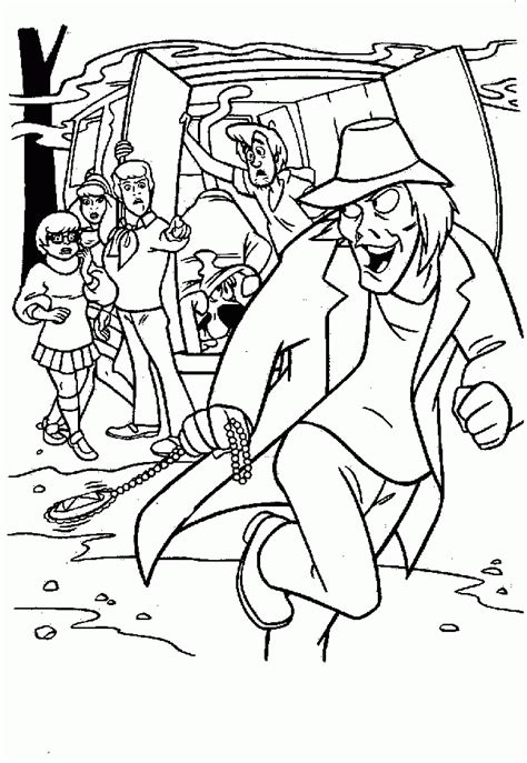 mystery machine coloring pages coloring home