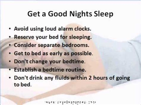 For A Nights Sleep by Tips To Get A Sleep