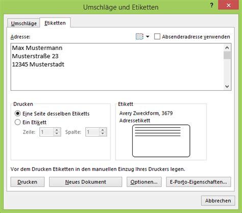 Etiketten Drucken Im Word by Etiketten Im Seriendruck Netschulungnetschulung