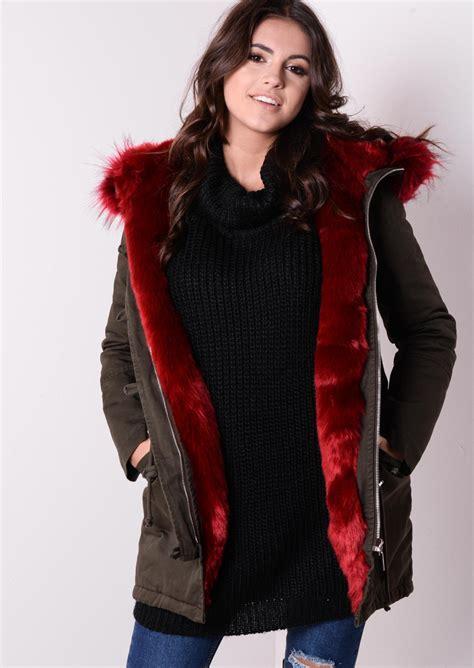 Rd Jaket Parka Army parka jacket with fur coat nj
