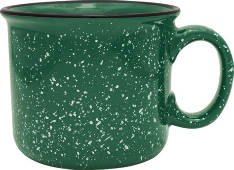 S'More Mug  Bulk Custom Printed 14oz Ceramic Speckled Glaze Camp Mug