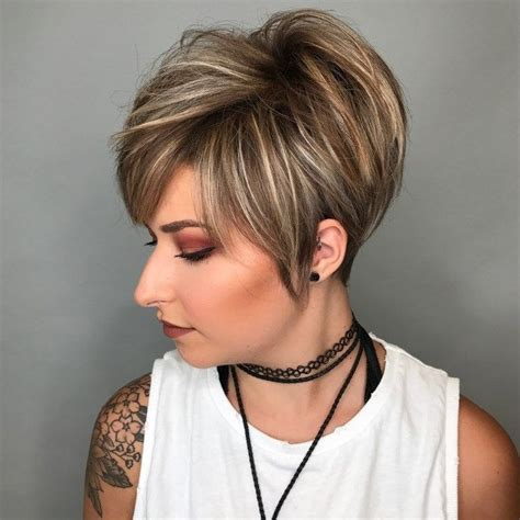stacked pixie with long bangs 70 cute and easy to style short layered hairstyles long