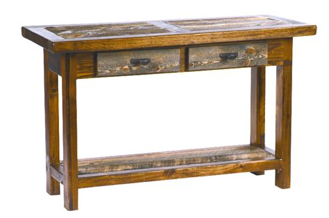 Sofa Table With Drawers by Wyoming Reclaimed Barnwood Furniture Sofa Tables W Drawers