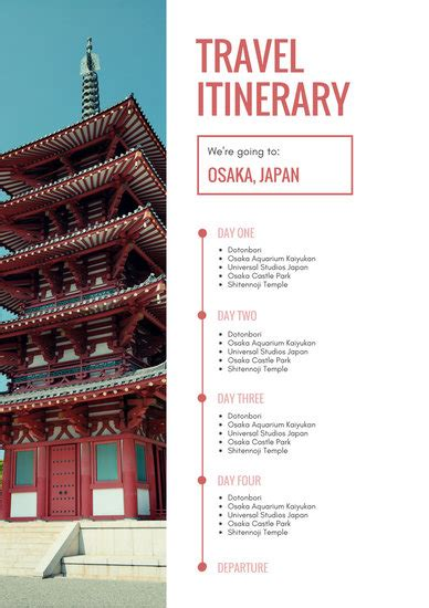 cream photo itinerary planner templates  canva