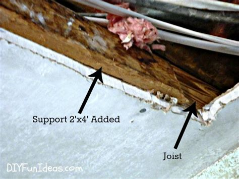 Fixing Plasterboard To Ceiling Joists by How To Repair A In Your Ceiling Drywall