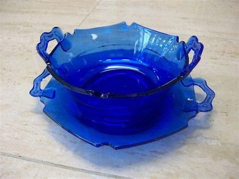 cobalt blue glass l base l e smith glass mt pleasant double shield cobalt blue mayo
