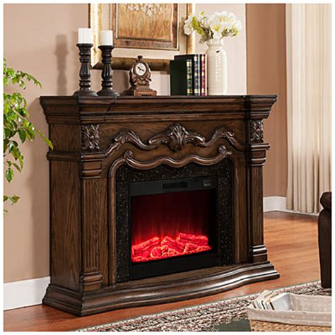 view 62 quot grand oak electric fireplace deals at big lots