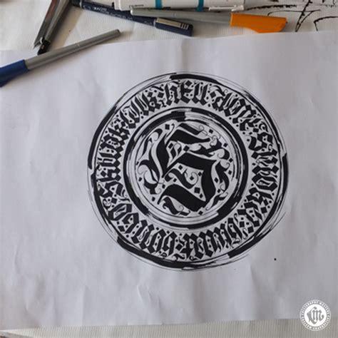 Custom Font Nameset Sevilla 2014 15 s calligram calligraphy custom lettering by