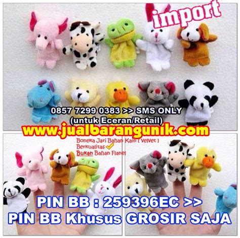 Family Finger Flanel Papa Indonesia grosir importir boneka jari 3d animal family