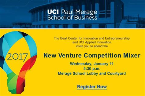 Uc Irvine Mba Academic Calendar by The Beall Center For Innovation And Entrepreneurship And
