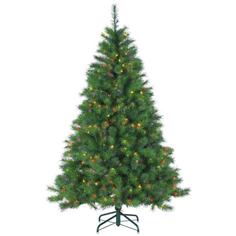 6 5 ft pre lit mixed needle wisconsin spruce artificial