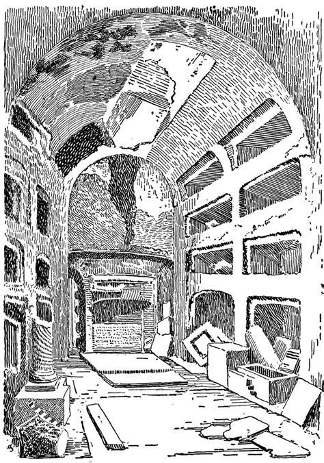 interior   catacombs clipart
